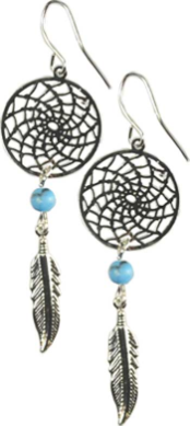 Dream Catcher w/ Turquoise  Earring