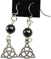Hematite Triquetra Earrings