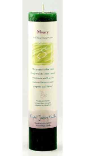 Money Reiki Charged Pillar Candle