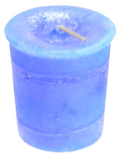Throat Chakra Votive Candle