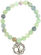 Green Fluorite Happiness Tree of Life Bracelet