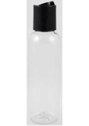 Clear Plastic Bottle  2 oz