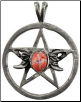Triple Moon-Pentagram Spell Amulet