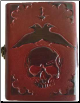 Skull leather w/ latch