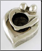 Couple's Heart Chime candle holder