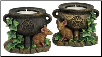 2 Cauldron and Mouse tealight holder