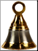 Brass Two Tone Altar Bell 2""