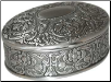"2 1/2: x 3 1/2"" Oval pewter"