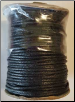 Black Cotton Cord 2mm 1 yd