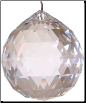 Clear Faceted Crystal Ball  20 mm