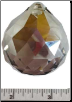 Satin Faceted Crystal Ball  40mm