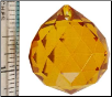 30 mm Amber faceted crystal ball