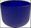 Dark Blue Crystal Singing Bowl  8""