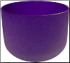 Purple Crystal Singing Bowl  8""