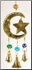 Three Bell Star and Moon Wind Chime