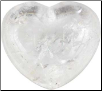 Clear Quartz Stone Heart  1 3/4""