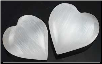 "White Selenite Stone Heart  1 1/4"" - 2"""
