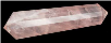 Double Terminated Rose Quartz Point  2""