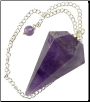 Amethyst Pendulum   6-sided