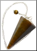 Tiger Eye Pendulum  6-sided