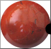 40mm Jasper Red sphere