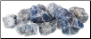 Blue Calcite Untumbled Stone  1 Lb