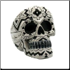Black/ White Aztec Skull ashtray