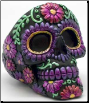 Purple Metallic Skull ashtray