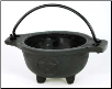 Pentagram Cast Iron Cauldron 3 1/2""