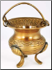Celtic Brass Cauldron 3""