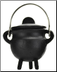 Plain Cast Iron Cauldron  w/ Lid 2 3/4""