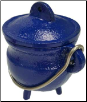 Blue Cast Iron Cauldron  3""