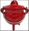 Red Cast Iron Cauldron  3""