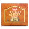 Amber HEM Cone Incense 10 Pack