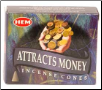 Attracts Money HEM Cone Incense 10 Pack