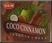 Coconut Cinnamon HEM Cone Incense 10 Pack