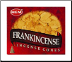 Frankincense HEM Cone Incense 10 Pack