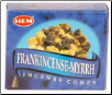 Frankincense & Myrrh HEM Cone Incense 10 Pack