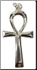 Ankh Sterling Silver Pendant   1 1/2""