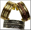 Assorted Two Tone Bracelet  1""