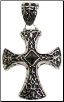 Celtic Cross with Black Stud Pendant