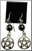 Hematite Pentagram Earrings