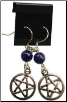 Lapis Pentagram Earrings