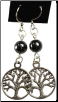 Hematite Tree of Life Earrings
