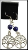 Lapis Tree of Life Earrings