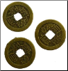 I Ching Coin, bronze