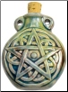Pentagram Raku Oil Bottle