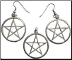 Pentacle Necklace & Earrings set
