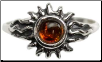 Amber Sun Ring Size 6
