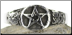 Pewter Pentagram Ring (Size 11)